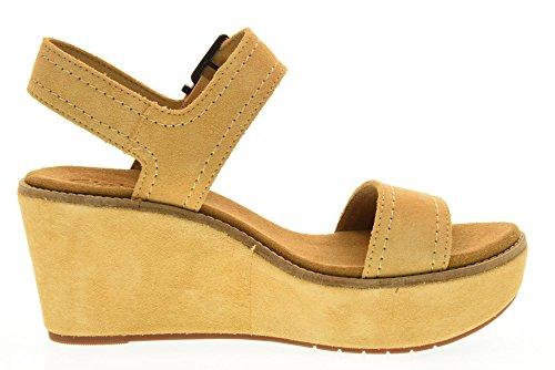 CLARKS zapatos de mujer sandalias de cuña 26125247 AISLEY ARENA ORQUÍDEA Sand