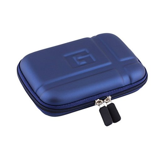 5'' Inch Hard Carrying Travel GPS Case Bag Pouch Protective Shell For 5'' 5.2 Inch Garmin Nuvi 55LM 54LM/54 52LM/52 2597LMT 2577LT 2557LMT 3597LMT TomTom Magellan RoadMate Devices Blue by Teaeshop (Image #1)'