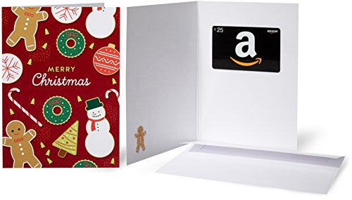 - Amazon.com $25 Gift Card in a Greeting Card (Christmas Cookies)