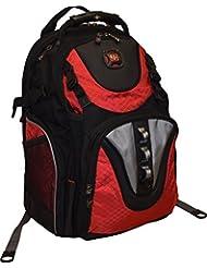 SwissGear® Maxxum Double Zipper Backpack With 16 Laptop Pocket, Black/Red