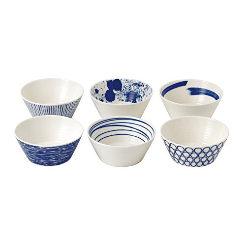 (Royal Doulton Pacific Tapas Bowls, 4.3-Inch, Blue, Set of 6)