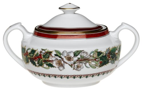 Spode Christmas Rose Covered Sugar Bowl