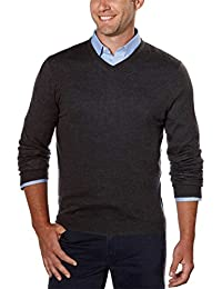 Men's Merino Sweater V-Neck Stripes