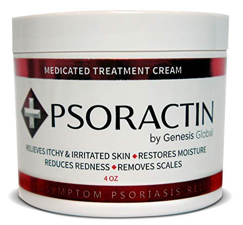 Psoractin Cream for Psoriasis Treatment - Organic Formula Provides Instant Relief, Moisture, and Lasting Protection for Itchy, Dry, Irritated, or Scaling Skin (4.0 oz) (Best Otc Psoriasis Treatment)