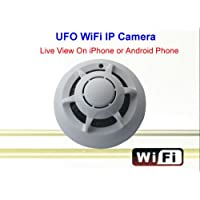 UFO WiFi Wireless IP Camera Spy Smoke Detector Surveillance Camera Video Recorder For iPhone Android Smart Phone