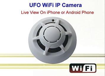 Amazon.com : UFO WiFi Wireless IP Camera Spy Smoke Detector ...