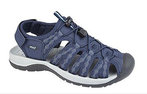 Dina Floral Touch Navy Print Sports Fastening Sandal Toggle PDQ zR6wq6F