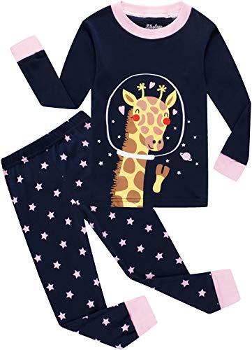 shelry Little Girls Giraffe Pajamas Kids Christmas Jammies