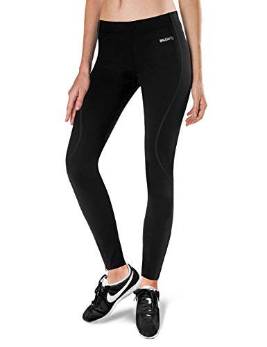 Baleaf Women's Thermal Fleece Running Cycling Tights Black S