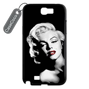 CASECOCO(TM) Marilyn Monroe Samsung Galaxy Note 2 Case - Protective Hard Back / Black Rubber Sides Case for Samsung Galaxy Note 2 Kimberly Kurzendoerfer
