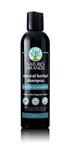 Herbal Peppermint Shampoo (Herbal Choice Mari Natural Shampoo, Green Tea & Peppermint; 8floz, Made with Organic)