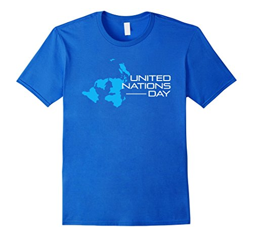 United Nations Costumes (Mens United Nations Day UN Day 2017 Graphic Tshirt Tee Large Royal)