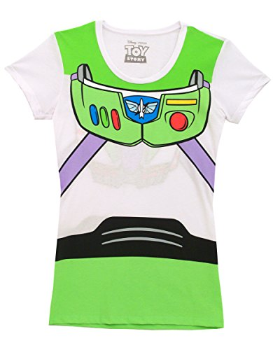 [Toy Story Buzz Lightyear Juniors Astronaut Costume White T-shirt (Juniors X-Large)] (Buzz Lightyear Costumes Women)