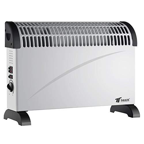 1250W Thulos Calefactor convector con Turbo Ventilador 3 ajustes de Temperatura 750W 2000W TH-CH2001