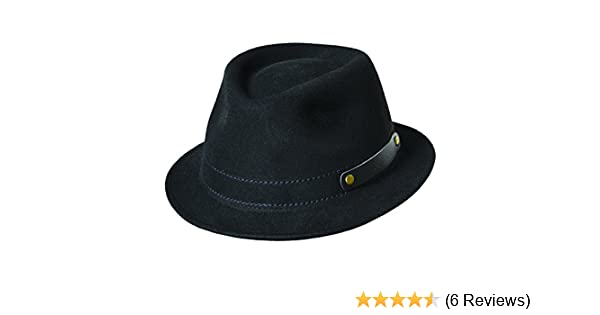 1ee97071 Woolrich Men's Crushable Wool Felt Rollup Four Season Fedora Hat (L, Black)  at Amazon Men's Clothing store: