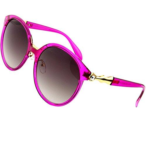 Sumery Vintage Retro Round Lens Gold Frame Rhinestone Decoration Sunglasses Women UV400 (Pink, - Junior Gaultier Sunglasses