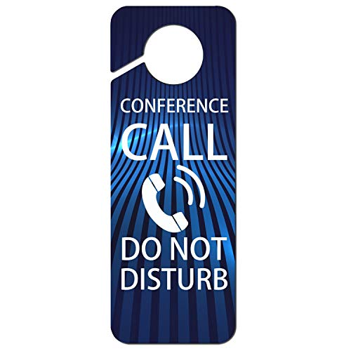 Remember Conference Call Do Not Disturb-2 Plastic,Door Handle Hook Sign,Room Service,Motel,Hotel,Nursing is in Progress