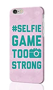 Selfie Game Too Strong Pattern Image - Protective 3d Rough Case Cover - Hard Plastic 3D Case - For iphone 5C -