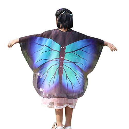 WOCACHI Kids Girls and Boys Butterflies Wings Capes, Halloween Costume Child Cloak