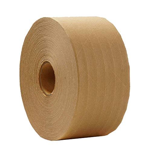 - ABC Fiberglass Reinforced Tape 72 mm X 450 ft. Kraft Carton Sealing Tape. Industrial Gummed Kraft Paper Tape for Medium, Light Weight Packaging. Water-Activated Adhesive. Tamper Evident Seal.