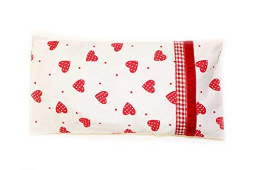 Dotty Herzen Yoga Lavendel Eye Kissen Meditation Organic Cotton Eye Kissen,waschbar,mikrowellengeeignet,umweltfreundlich,Heizung Eye Pad,Weihnachten Geschenk Entspannung ST Valentinstag Geschenk