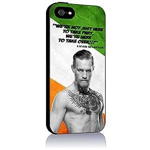 conor mcgregor for Iphone 4 4s 5 5c 6 6plus Case (iphone 4/4s black)