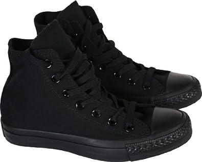 black monochrome converse high tops