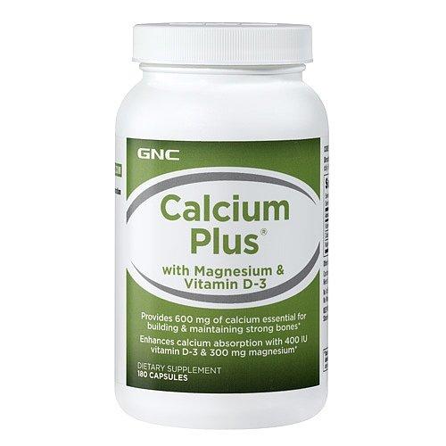 GNC Calcium Plus with Magnesium Vitamin D3 180 caps