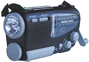 Kaito KA888 4-way Powered Emergency Radio, AM FM Shortwave Bands, and Comes with Alarm Clock, Thermometer,Compass and Flashlight