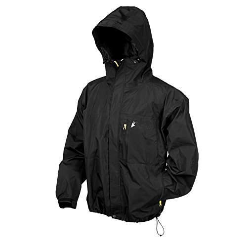 Frogg Toggs Men's Toad Rage II Jacket, Black with Lime Zip, X-Large by Frogg Toggs (Image #1)