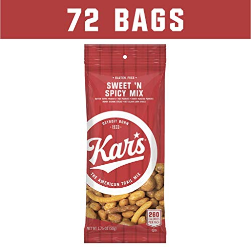 (Kar's Nuts Sweet 'N Spicy Trail Mix Snacks - Bulk Pack of 1.75 oz Individual Single Serve Bags (Pack of 72))