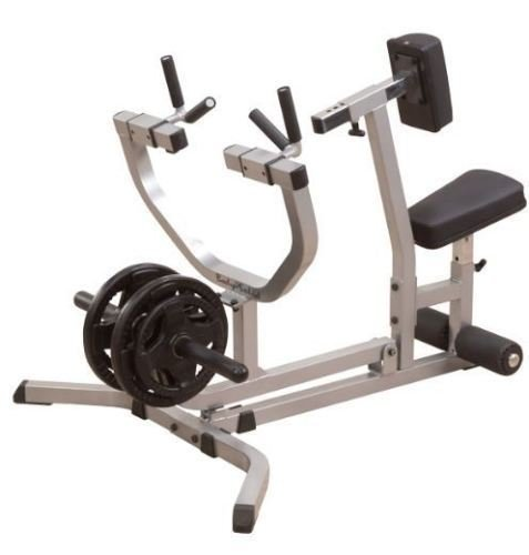 SEATED Bench ROW MACHINE Weight Plate Gym Rowing Rower Body Solid - Incline Rower