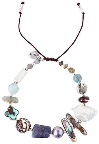 Chan Luu Blue Mix Pull-tie Adjustable Bracelet ()