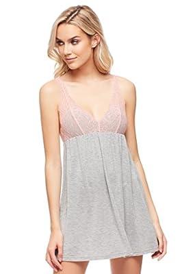 Jenny Jen Sexy Chloe Womens Lace Chemise, Sexy Sleepwear for Women Nightgown