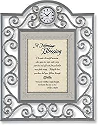 A Marriage Blessing Table Clock Framed Table Clock General Verses Paper