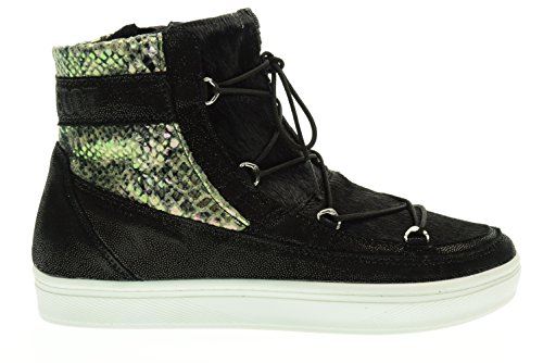 SNAKE 24101300001 BOOT Panna femme VEGA BLACK Nero MOON MB CREAM YIxqAdIw