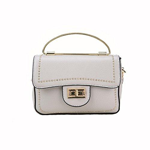 a MIMI tracolla messenger tracolla a Trend Nero piccolo borse per donne Lock Grey Fashion portatile Square KING wqfgqrxI4