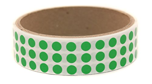"""Green, 1/4"""" Color Coding Dot Labels w/ Permanent Adhesive 