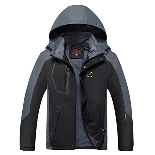 Waterproof Gift 2XL tela Jacket Father's Plus Zhhlaixing Buena Black Hoodie 8XL Windbreaker Mens Day Durable Big Tall for Size and T0fxw