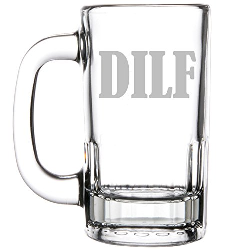 12oz Beer Mug Stein Glass DILF Funny Dad Father Husband Gift