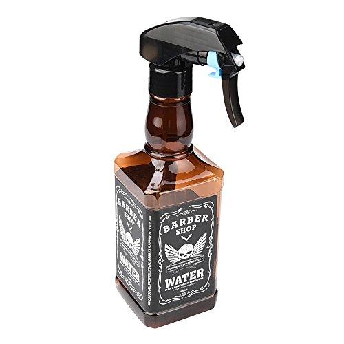 oldeagle 500ML Hairdressing Spray Bottle Salon Barber Hair Tools Water Sprayer (Brown) Vintage Amber Glass Bottle