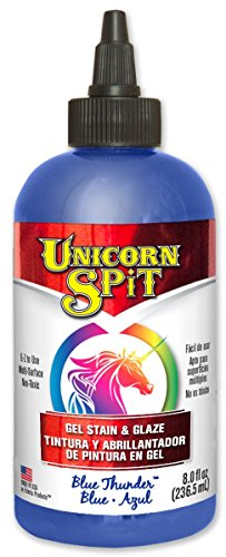 eclectic-5771008-6-pack-8-oz-unicorn-spit-gel-stain-and-glaze-blue-thunder