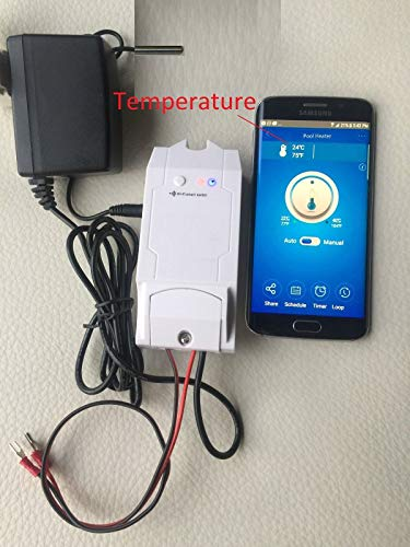 - Wi-Fi Gas Heater pool Spa Hot tub programmable Thermostat/Timer Remote/Receiver & Control Temperature
