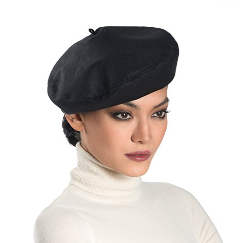 Eric Javits Luxury Fashion Designer Women's Headwear Hat - Betty - Black by Eric Javits