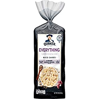 Quaker Rice Cakes, Everything Bagel, 5.9oz Bag