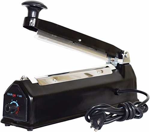 Bag-N-Seal Impulse - Cellophane Bag Sealer with Extra Heating Element & Teflon Sheet, 8''/200mm by Bag-N-Seal