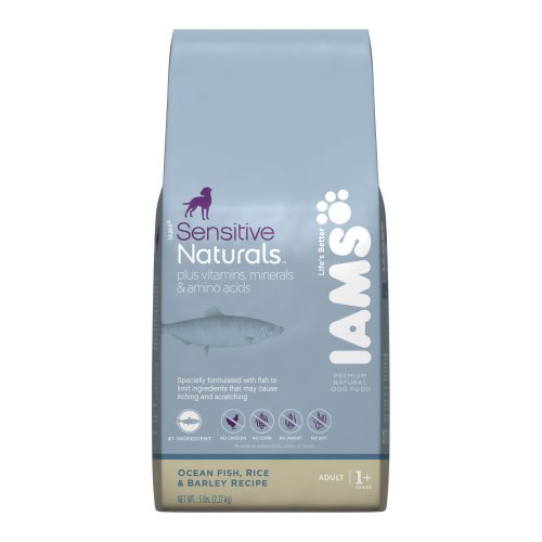 Iams Sensitive Naturals Ocean Fish, Rice and Barley Recipe, 5-Pounds (Pack of 2), My Pet Supplies