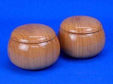 木製碁笥 桜 大 ※将碁屋ミニ椿油付き