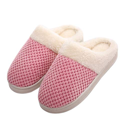 Starttwin Womens Winter Soft Warm Plush Shoes Slippers Indoor Home Floor Slippers