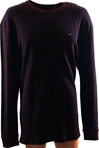 Tommy Hilfiger Gerald Stripe Pull Over Sweater Fall Basic Bordeaux, XXLarge